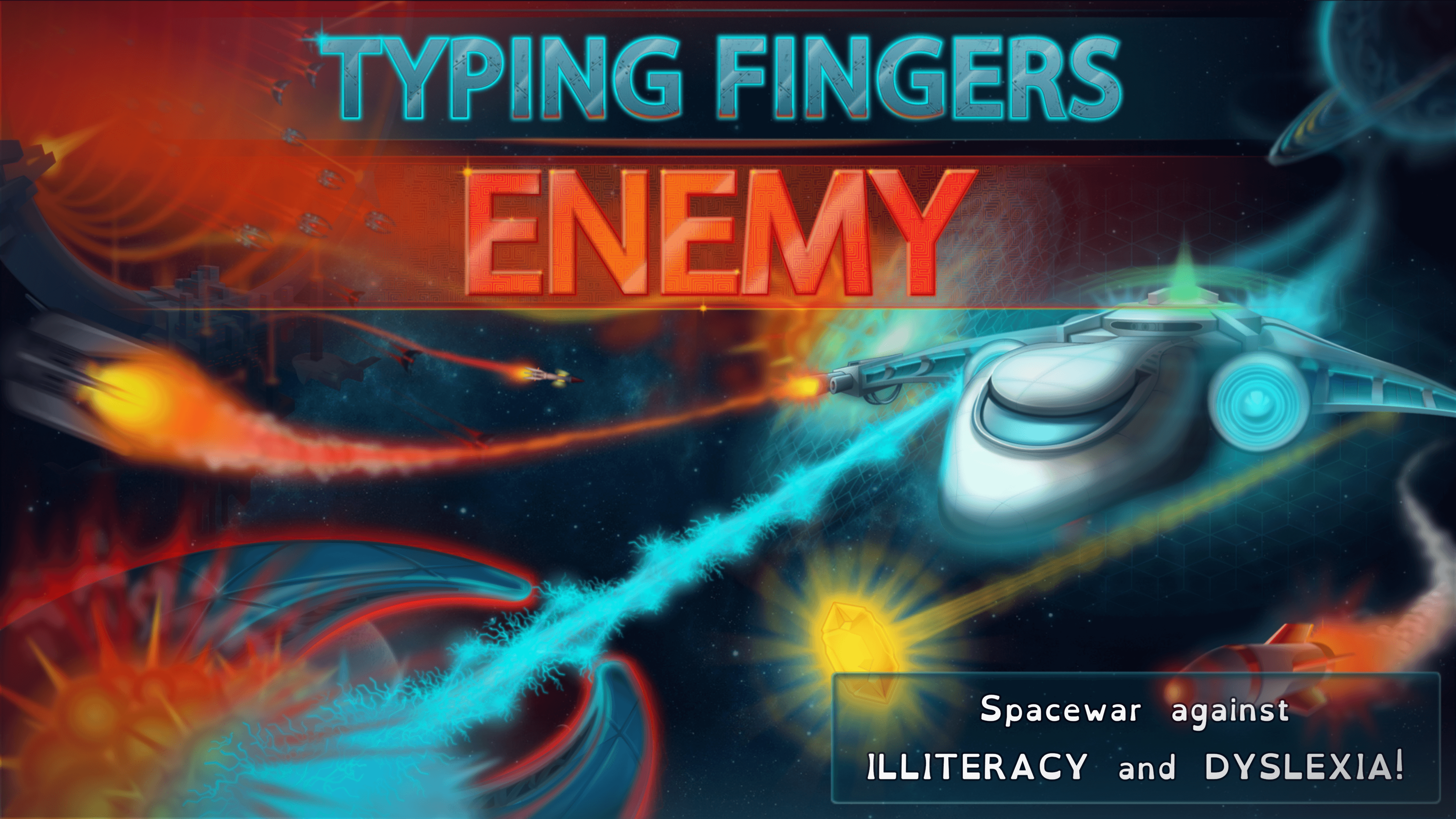 Space war against illiteracy and dyslexia